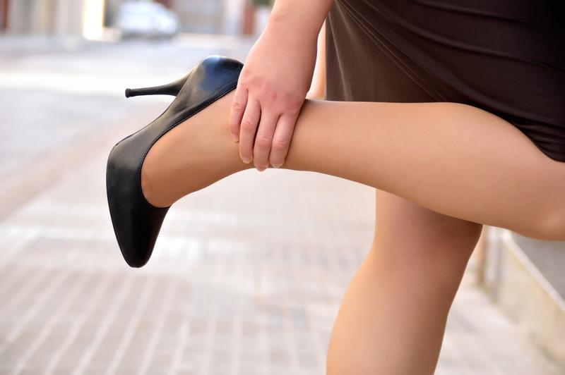 pernas cansadas e inchadas