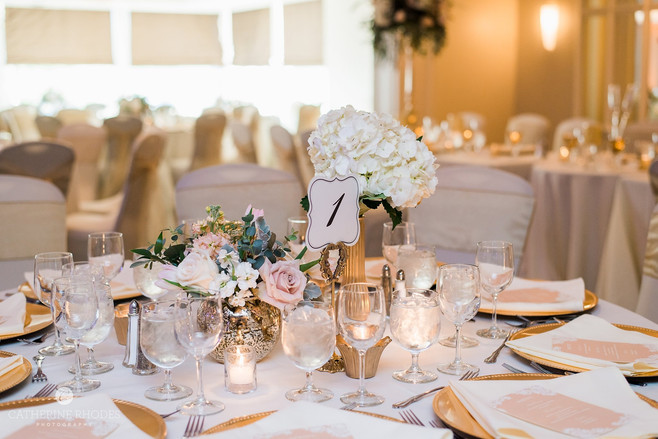 Elegant Gold Dining Table