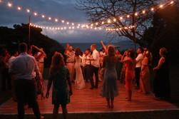 Hawaii Wedding Cafe Lights Outdoor Dance Floor