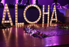 Aloha marquee letters hawaii wedding