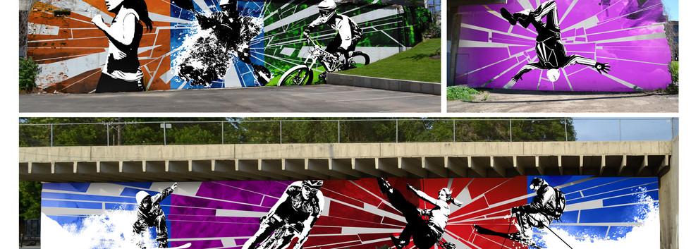 Ogden City Mural installation