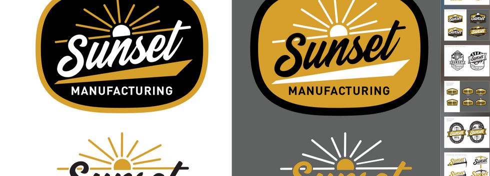Sunset Manufacturing - Brand identity