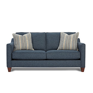 small sofa with throw pillows