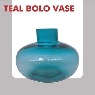 Blue bolo vase
