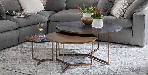 3 coffee tables sklar peppler