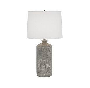 artisitc modern lamp with cotton shade