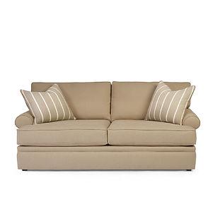 deep seated sofa with throw pillows