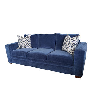 oversized sofa with deep seating and large track arms