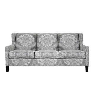 modern sofa with large patterned print