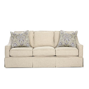 transitional sofa with skirt