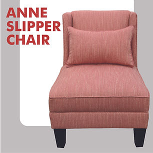 pink slipper chair