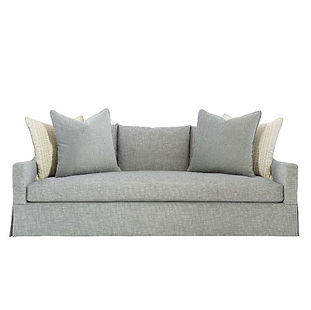 modern grey sofa with skirt