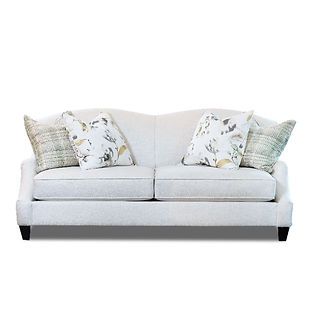 traditional sofa with pleated arms