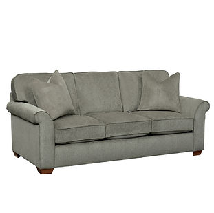 simple sofa with rolled arms and deep seating