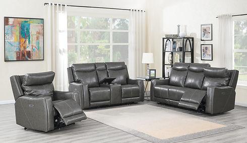 Leather Sofa, loveseat and chair Sklar Peppler