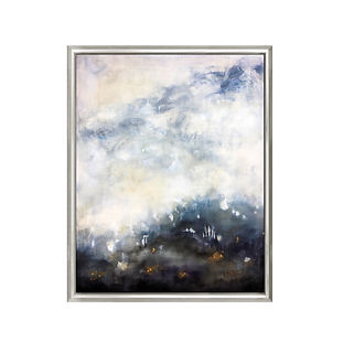 large painting with silver frame