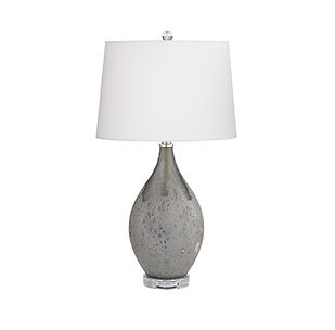 modern grey lamp with white shade