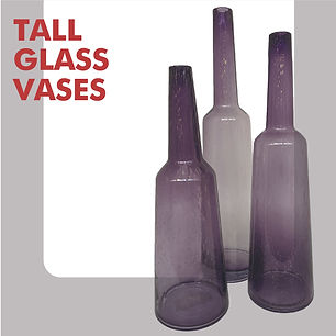 Set of tall vases