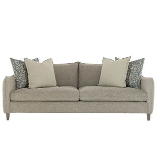 modern sofa with flange