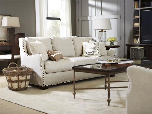 Sofa and coffee table in a living room sklar peppler