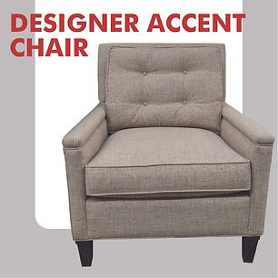 accent chair with tufting