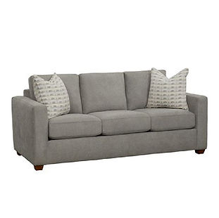 modern cozy sofa with track arms