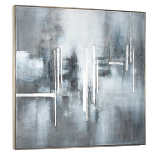 Large square grey painting