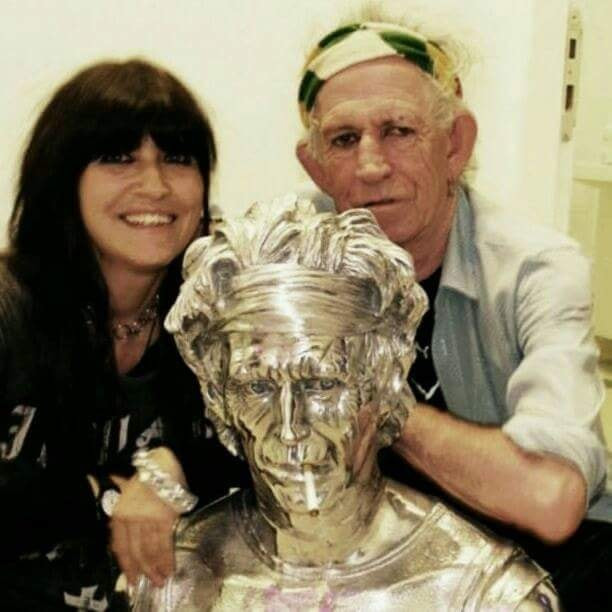 with Keith Richards