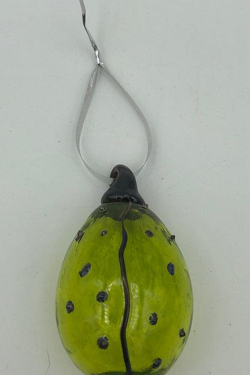 Green Glass Ladybug
