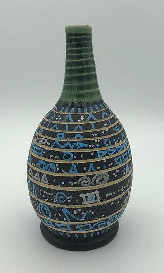 Blue & Black Vase