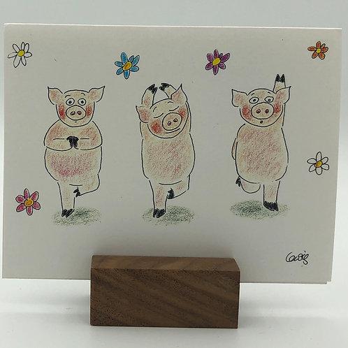 The Three Little Pigs do Yoga l