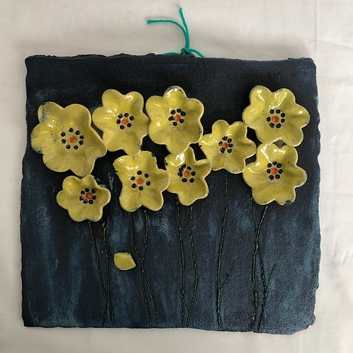 Yellow Daisy Wallhanging