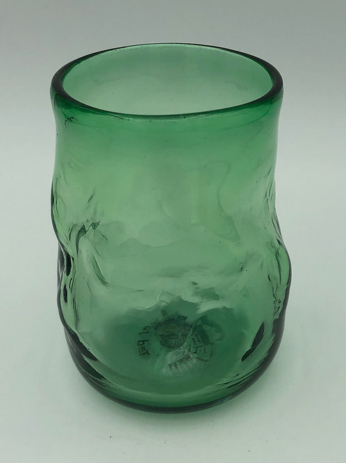 Small green drinking glass