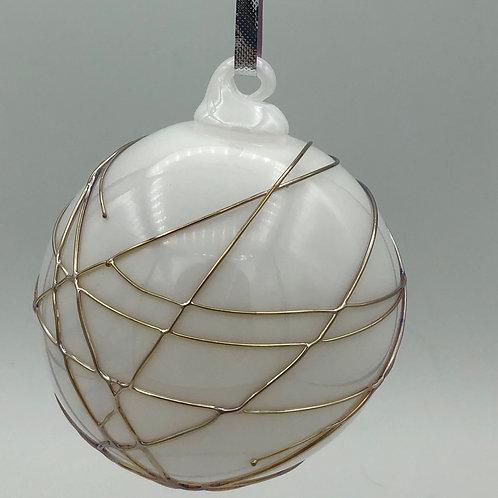 White glass Ball