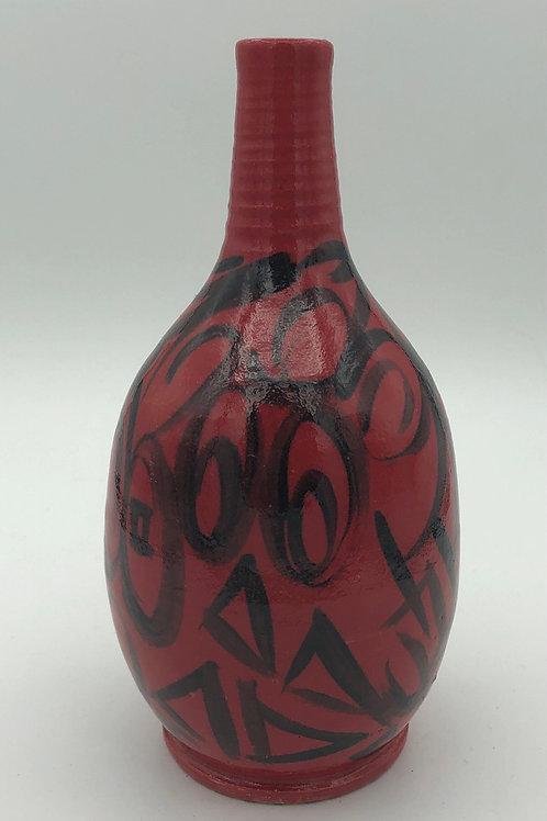 Red & Black Vase