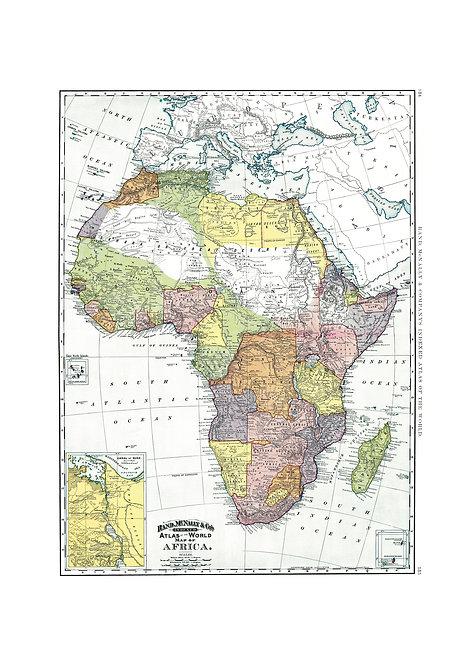 Africa & Suez Canal, 1897