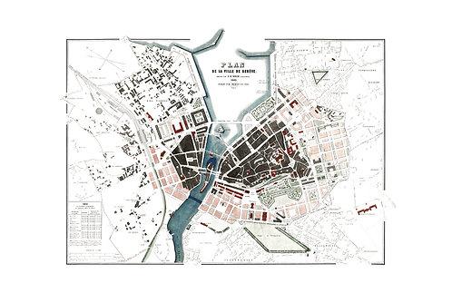 Plan de la ville de Genève, 1863