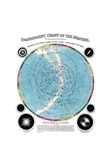 Transparent chart of Heavens, 1851
