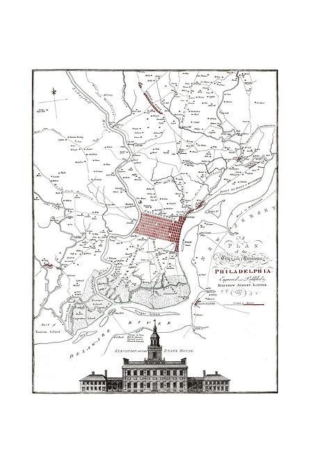 Plan of Philadelphia, 1777