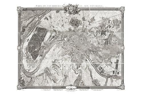 Plan de Paris, 1730