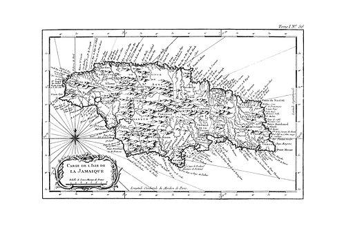 Carte de l'Isle de la Jamaïque, 1764