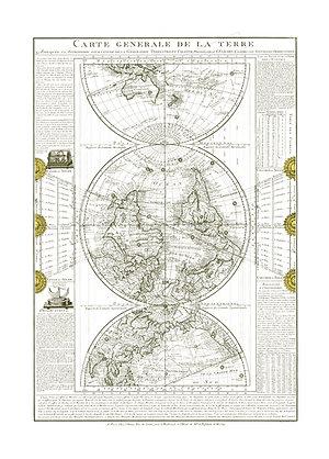 Carte Générale de la Terre, 1782