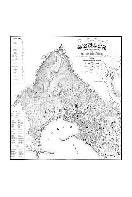Genova messa in pianta topografica, 1853