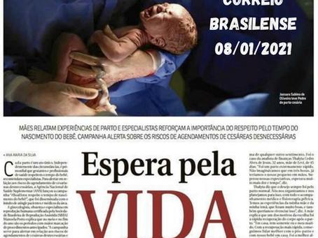 Dra. Manoela em entrevista ao Correio Brasiliense sobre boas práticas para o parto.