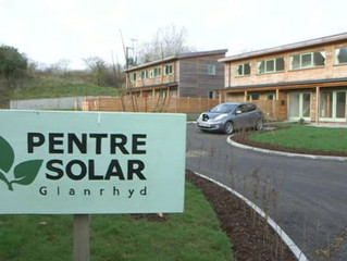 GREEN FUTURE FOR WALES' HOMES AS SOLAR VILLAGE OPENS