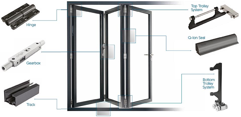 aluminium bi-folding door