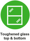 touhened glass