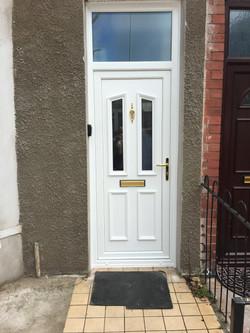 Reinforced uPVC front door