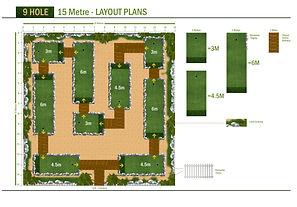 9 Hole / 15 Meter LAYOUT PLANS