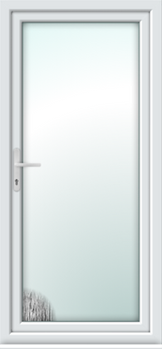 upvc fully glazed door